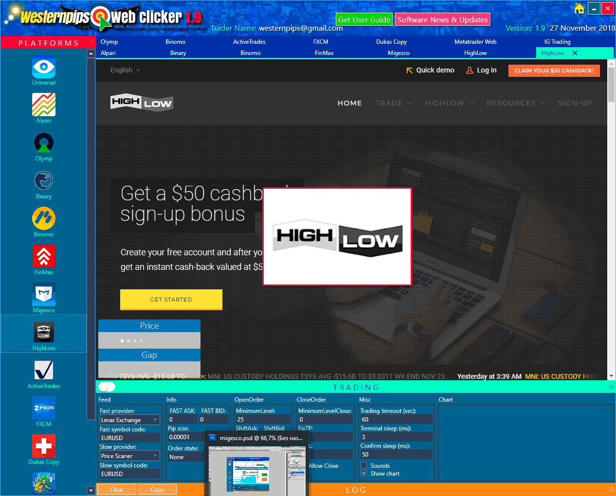 Binary options auto trading clicker smart sports betting